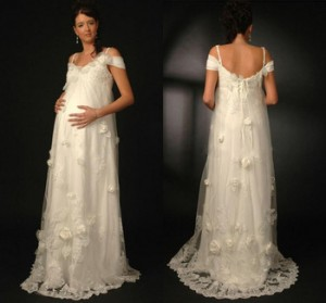 Adorable-A-Line-Sweetheart-Off-the-Shoulder-Chiffon-Sweep-Train-Lace-font-b-Pregnant-b-font